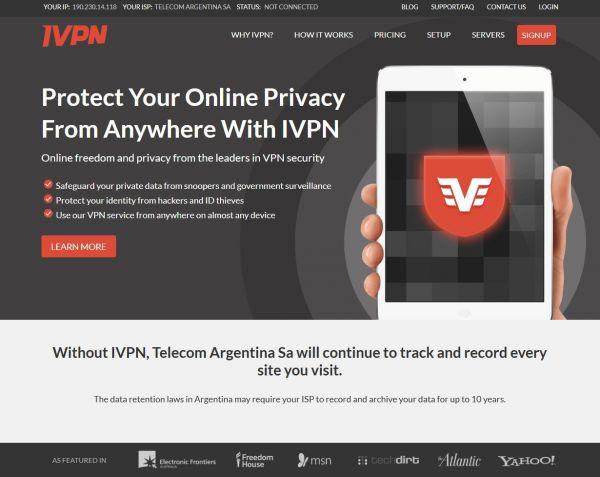 Ivpn.net Screenshot