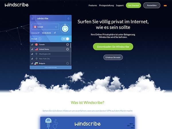 windscribe.com Screenshot