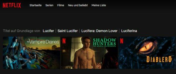 Netflix Titel Lucifer