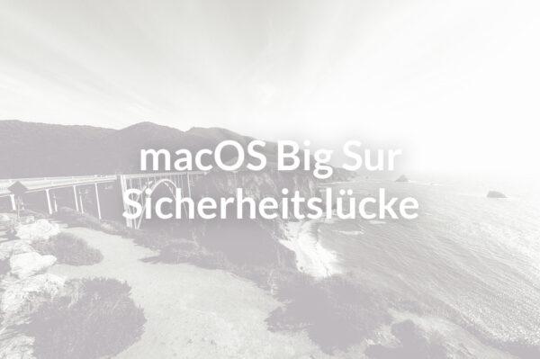 VPN Probleme unter MacOS Big Sur