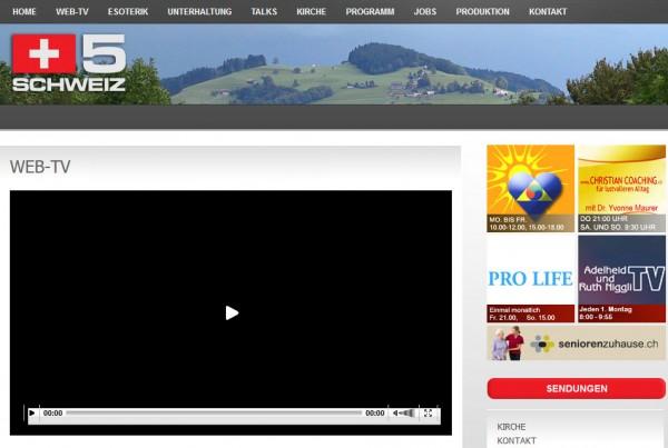Schweiz 5 Web-TV im Ausland ansehen